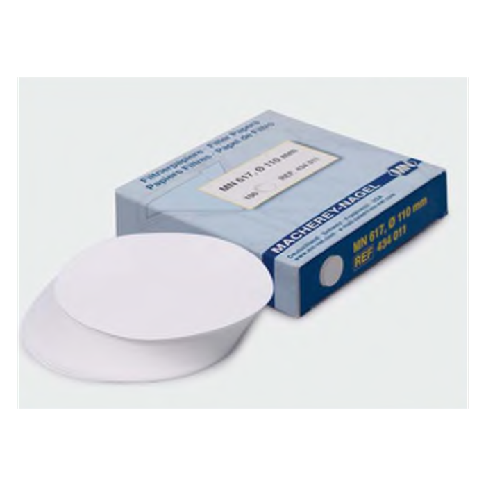 filtre kağıdı-kalitatif-M&Nagel-125 mm-mavi bant-yavaş akış hızı