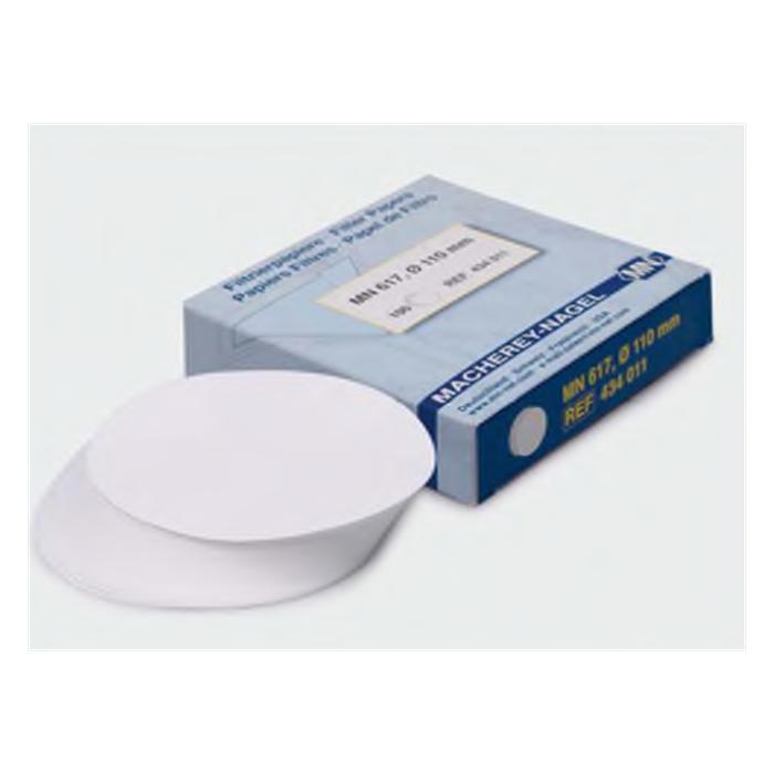 filtre kağıdı kalitatif M&Nagel 125 mm beyaz bant orta akış hızı