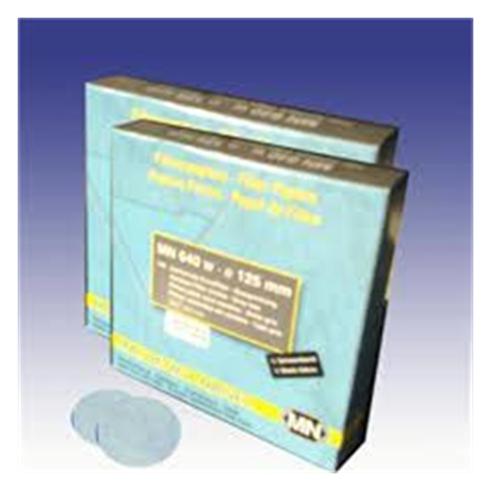 filtre kağıdı-kantitatif-M&Nagel-110 mm-beyaz bant-orta akış hızı